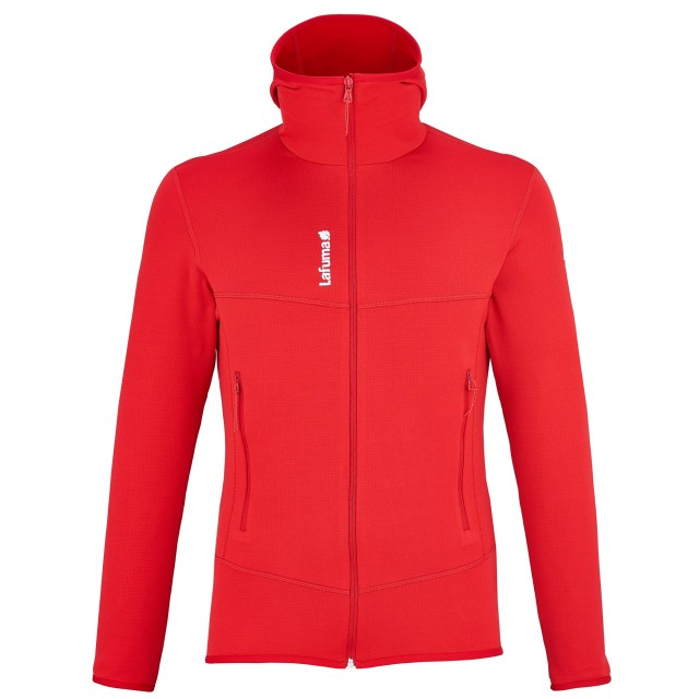 Polaire randonnée Homme TRACK THERMAL HOODIE Rouge Lafuma