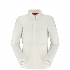 RIB FLEECE F-ZIP Blanc Lafuma