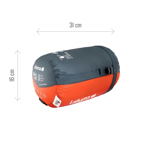 Sac de couchage - confort 4° DOWNLEAF -2° ORANGE Lafuma 5