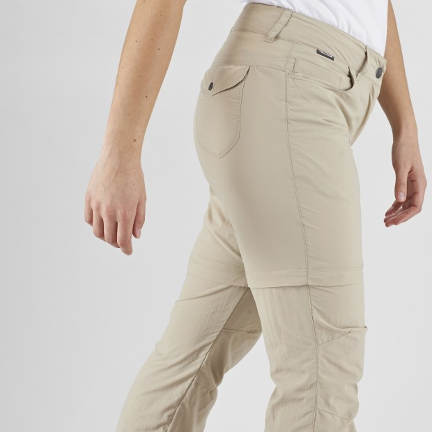 Pantalon Modulable 2 en 1 Femme ACCESS Z-OFF PANTS W GRIS Lafuma 2