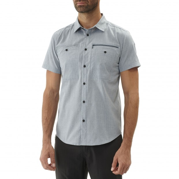 Chemise manches longues - Homme TRAVELLER SHIRT SS Kaki Lafuma 5