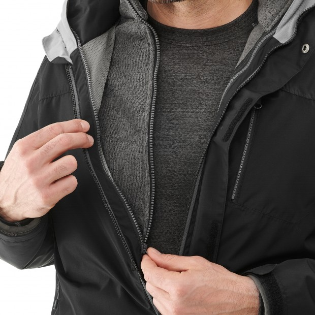 Veste mix and match - homme ACCESS 3in1 FLEECE JKT Noir Lafuma 8