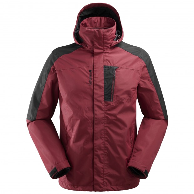 Veste mix and match - homme ACCESS 3in1 FLEECE JKT Rouge Lafuma