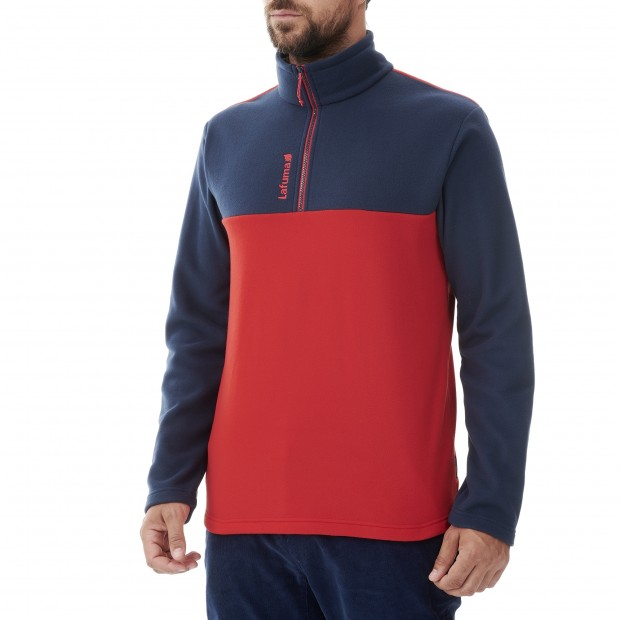 Micro-polaire - Homme - ROUGE ACCESS MICRO T-ZIP M Lafuma 2