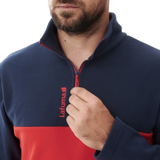 Micro-polaire - Homme - ROUGE ACCESS MICRO T-ZIP M Lafuma 4