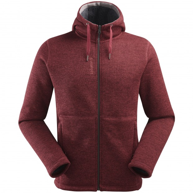 Sweat polaire mix and match - homme CALI HOODIE M Rouge Lafuma