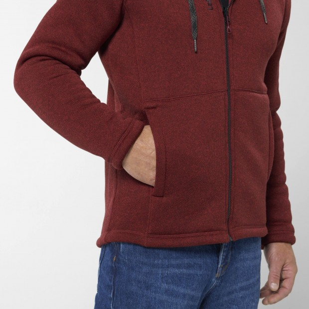 Polaire - Homme - ROUGE CALI HOODIE M Lafuma 4