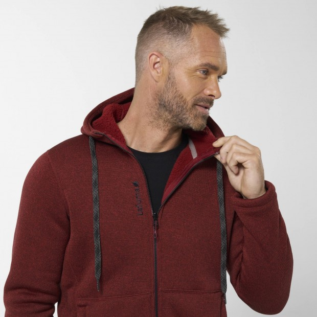 Polaire - Homme - ROUGE CALI HOODIE M Lafuma 5