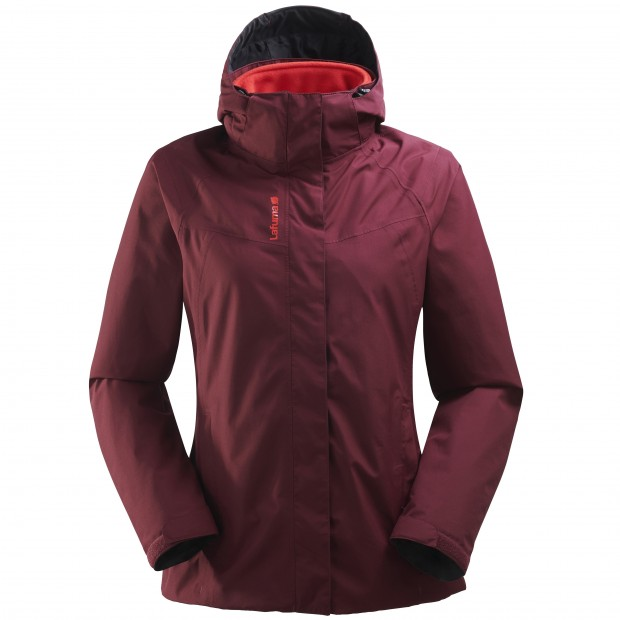 Veste mix and match - femme LD JAIPUR GTX 3in1 JKT Rouge Lafuma