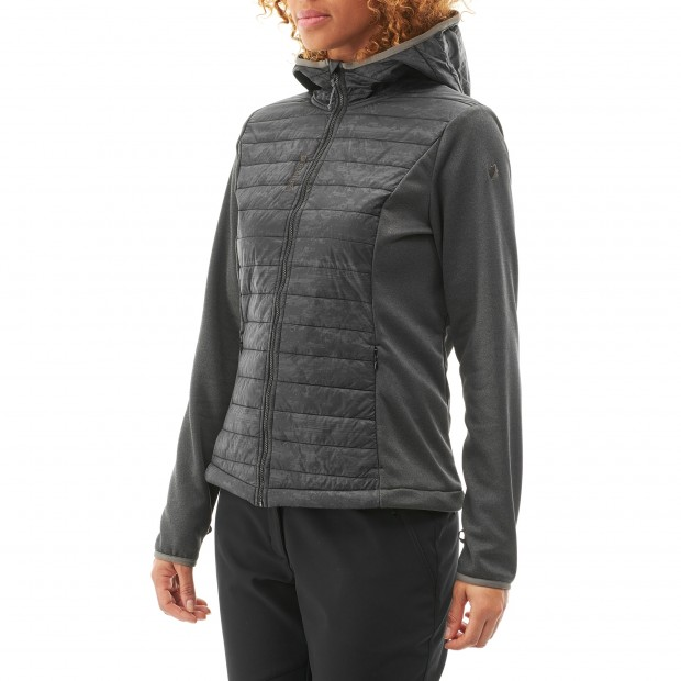 Veste polaire mix and match - femme LD ACCESS HYBRID HOODIE Noir Lafuma 2