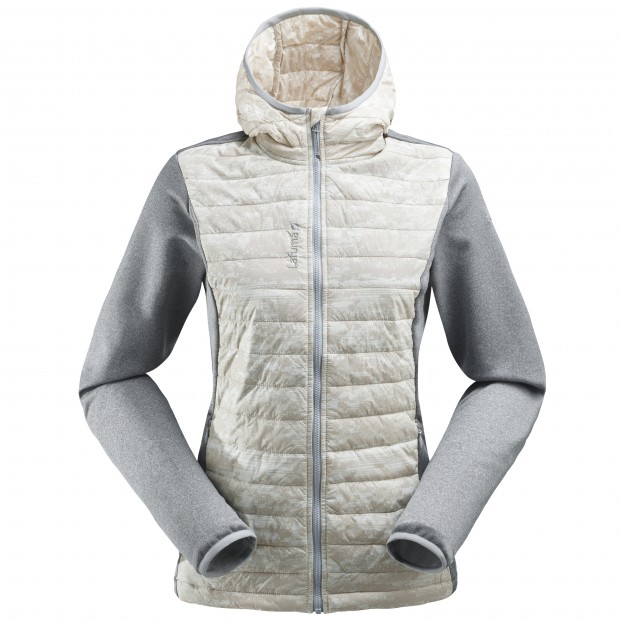 Veste polaire mix and match - femme LD ACCESS HYBRID HOODIE Blanc Lafuma