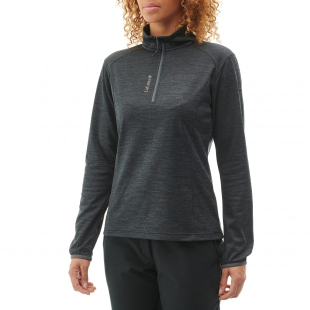 Micro polaire mix and match - femme LD ACCESS MICRO T-ZIP Rouge Lafuma 4