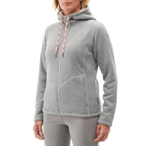 Polaire stretch - femme CALI HOODIE W Rouge Lafuma 2