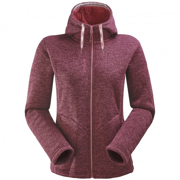 Polaire stretch - femme CALI HOODIE W Rouge Lafuma