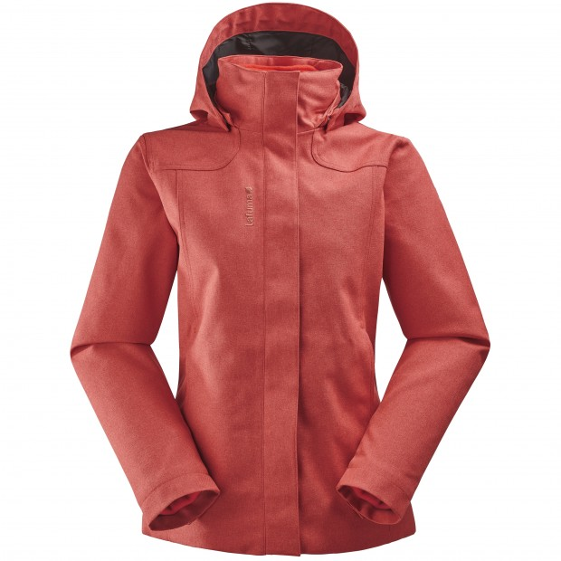 Veste mix and match - femme LD CALDO HEATHER 3in1 JKT Rouge Lafuma