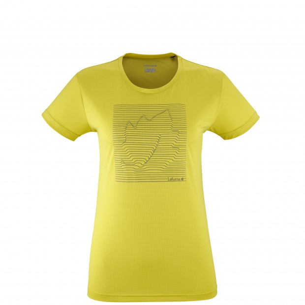 Tee-Shirt manches courtes - Femme - JAUNE CORPORATE TEE W Lafuma
