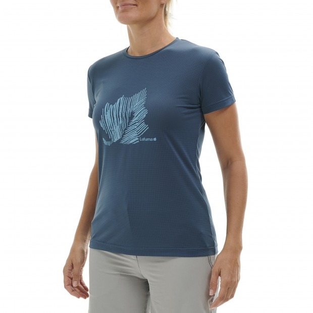 Tee-Shirt Manches courtes Femme CORPORATE TEE W GRIS Lafuma 2