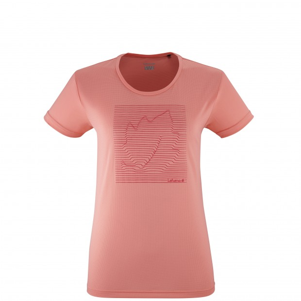 Tee-Shirt manches courtes - Femme - ROSE CORPORATE TEE W Lafuma