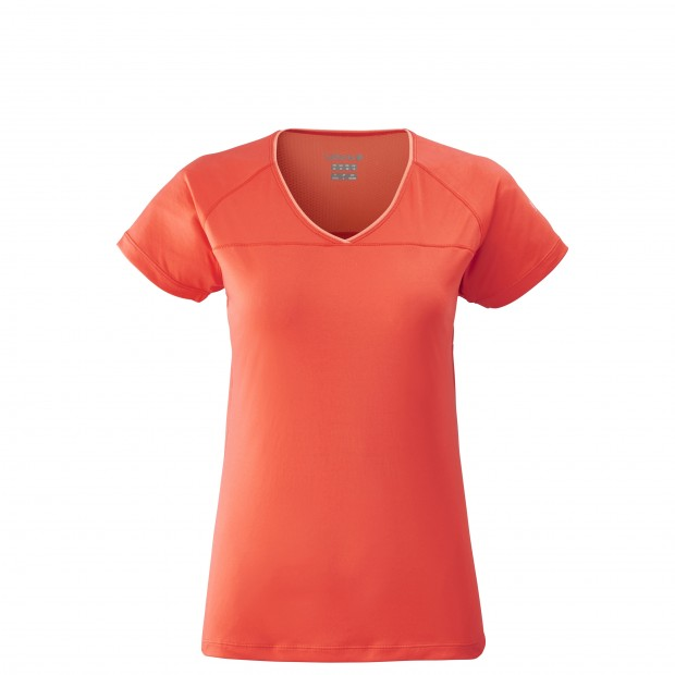 Tee-Shirt manches courtes - Femme TRACK TEE W Rouge Lafuma