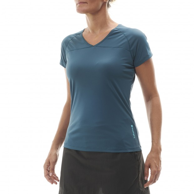 Tee-Shirt Manches courtes Femme TRACK TEE W GRIS Lafuma 2
