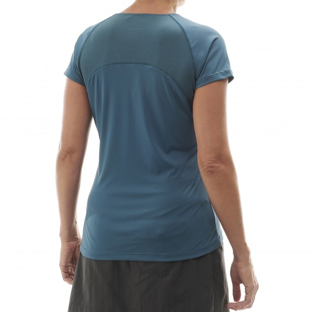Tee-Shirt Manches courtes Femme TRACK TEE W GRIS Lafuma 3