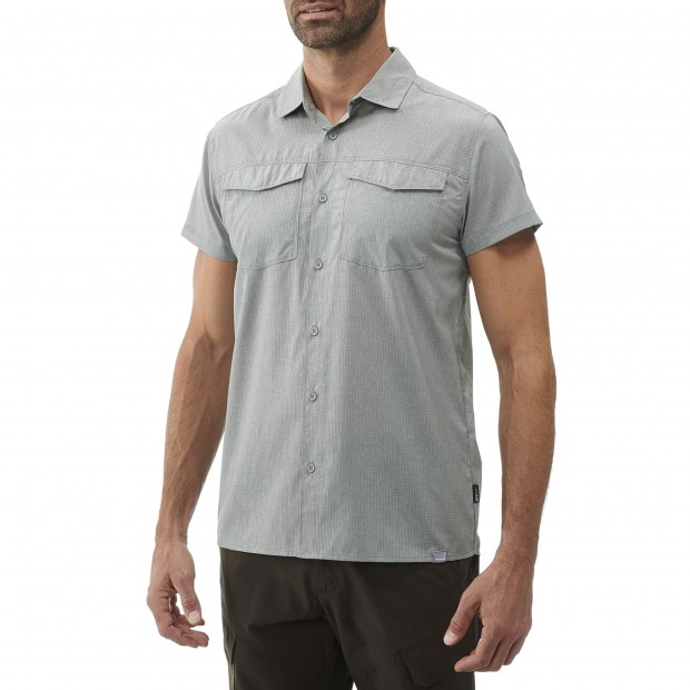 Chemise Manches courtes Homme AIR SHIELD SHIRT SS M GRIS Lafuma 2