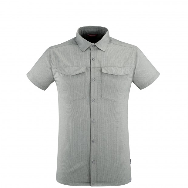 Chemise Manches courtes Homme AIR SHIELD SHIRT SS M GRIS Lafuma