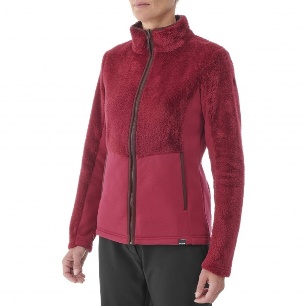 Polaire cocooning - Femme - ROUGE CHATHAM F-ZIP W Lafuma 2