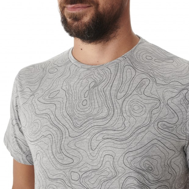 Tee-Shirt manches courtes - Homme - GRIS GRAPHIC TEE M Lafuma 4