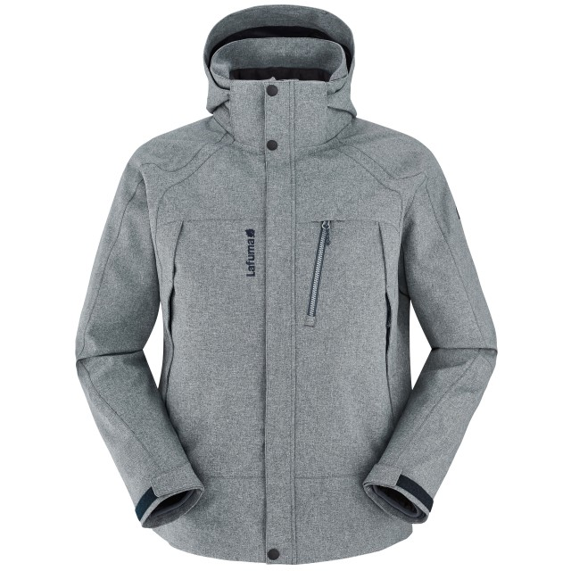 Lafuma Alps Zip-IN Jkt Veste Imperméable en 3 en 1 Homme, Heather Grey, FR : XL (Taille Fabricant : XL)
