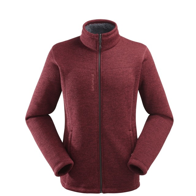 Sweat polaire mix and match - homme Cali F-Zip M Burgundy Lafuma