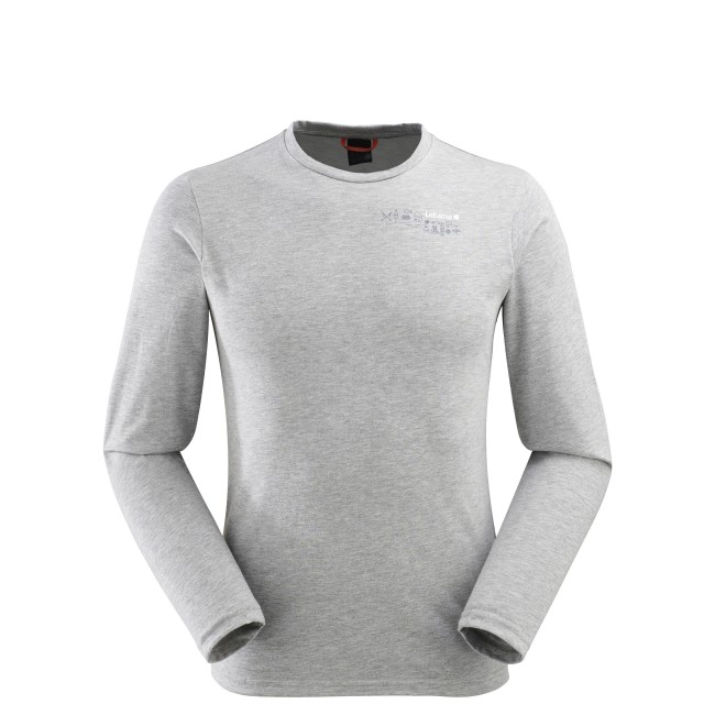 Tee-Shirt manches longues - homme ROCK TEE LS Gris Lafuma