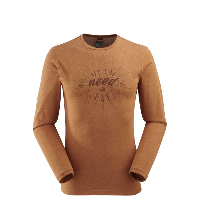 Tee-Shirt manches longues - homme ROCK TEE LS Camel Lafuma