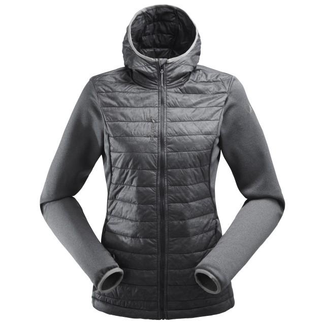 Veste polaire mix and match - femme LD ACCESS HYBRID HOODIE Noir Lafuma