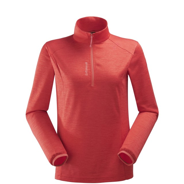 Micro polaire mix and match - femme LD ACCESS MICRO T-ZIP Rouge Lafuma
