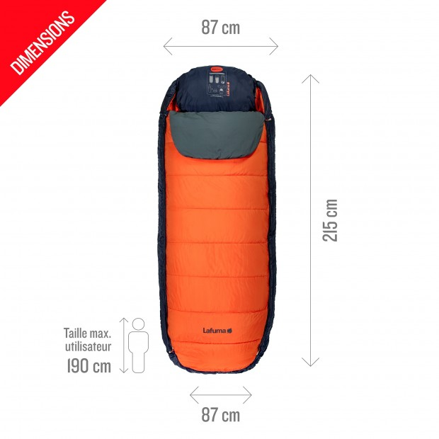 Sleeping bag NUNAVÜT ORANGE Lafuma 4