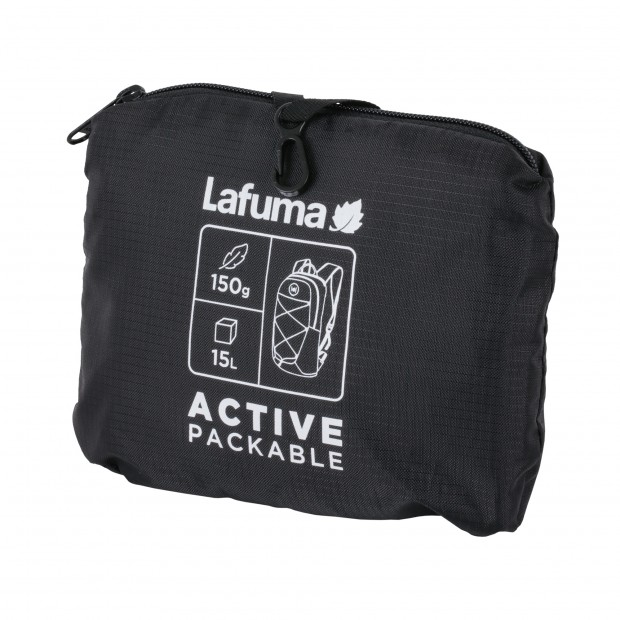 Ultra-packable Backpack - BLACK ACTIVE PACKABLE Lafuma 3