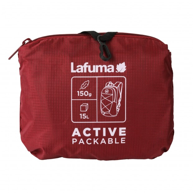 Ultra-packable Backpack - RED ACTIVE PACKABLE Lafuma 3