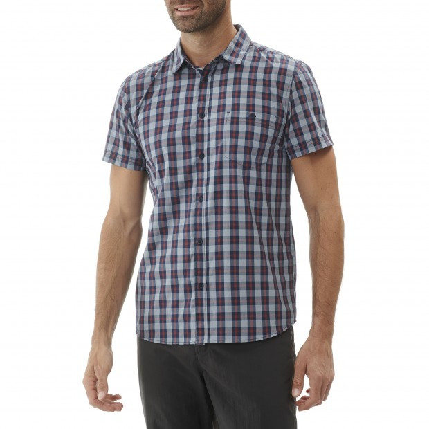 Short sleeves shirt - Men COMPASS SHIRT Blue Lafuma 2