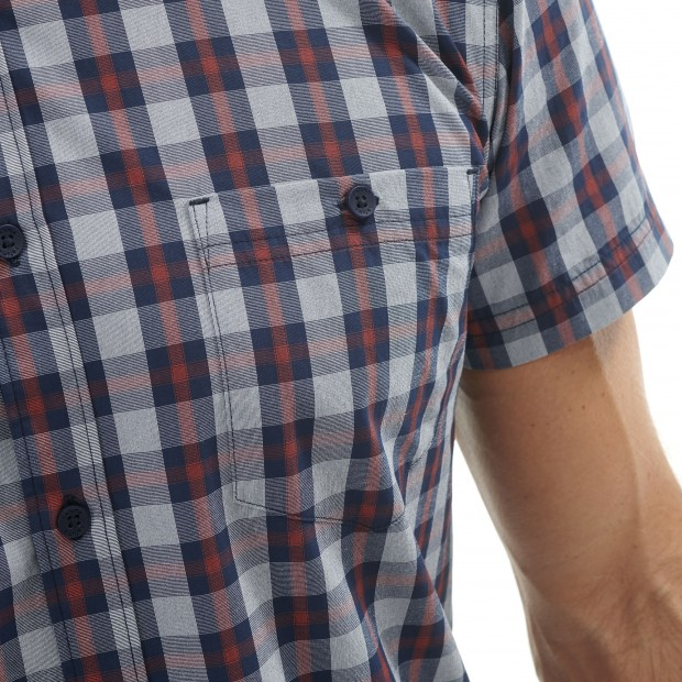 Short sleeves shirt - Men COMPASS SHIRT Blue Lafuma 4