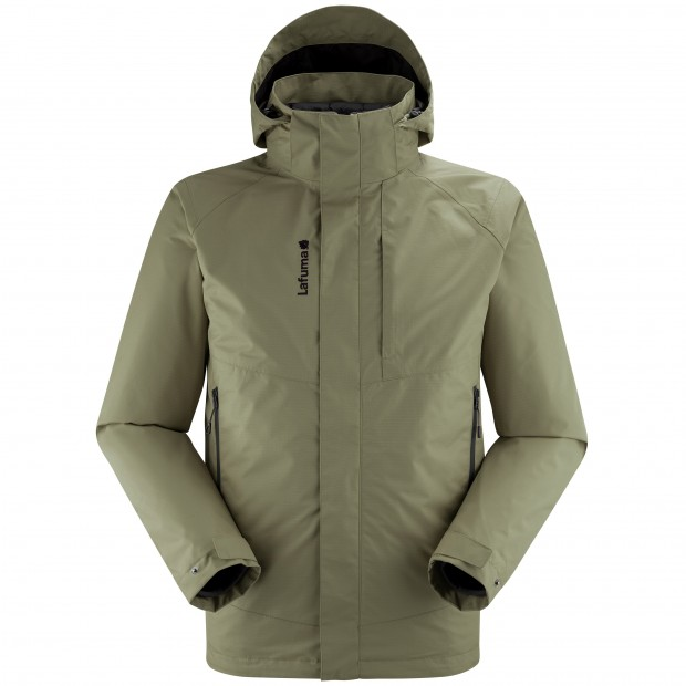 3 in 1 Waterproof Jacket - Men - KAKI TRACK 3in1 LOFT JKT M Lafuma