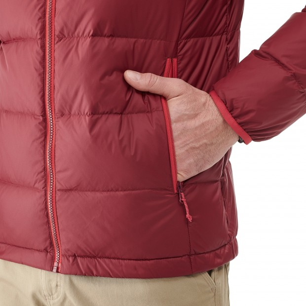 Mix and match down jacket - men TRACK DOWN HOODIE Red Lafuma 4