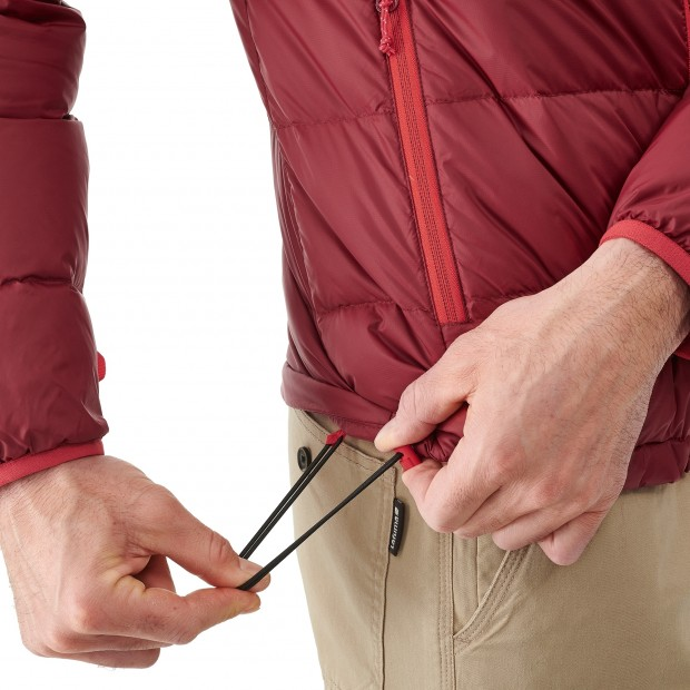 Mix and match down jacket - men TRACK DOWN HOODIE Red Lafuma 5
