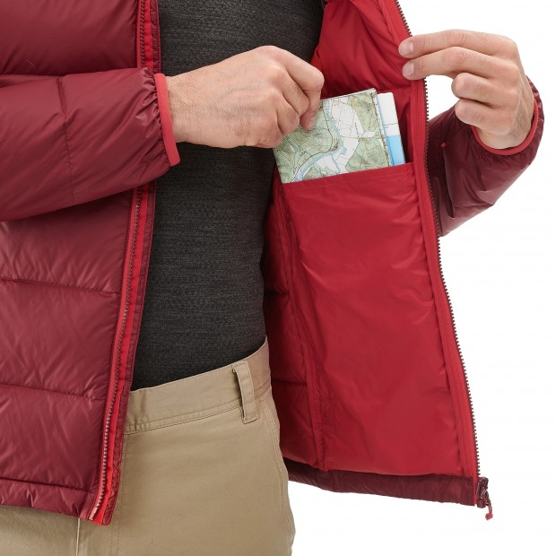 Mix and match down jacket - men TRACK DOWN HOODIE Red Lafuma 6