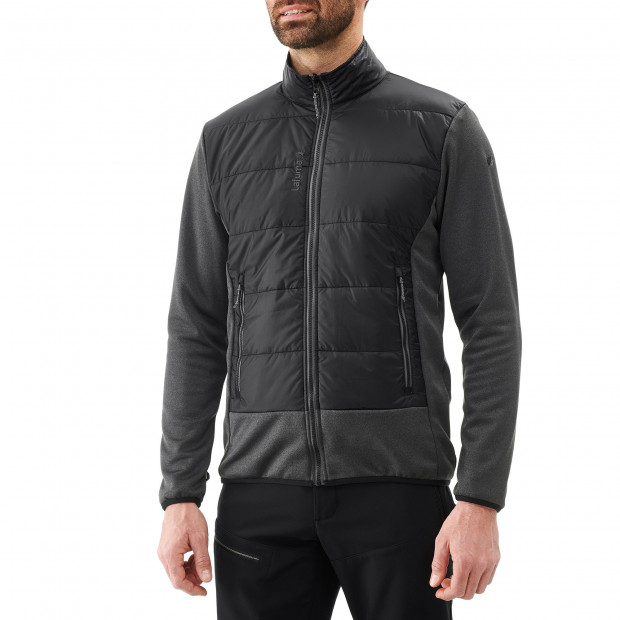 Hybrid fleecejacket - men ACCESS HYBRID F-ZIP M Black Lafuma 2