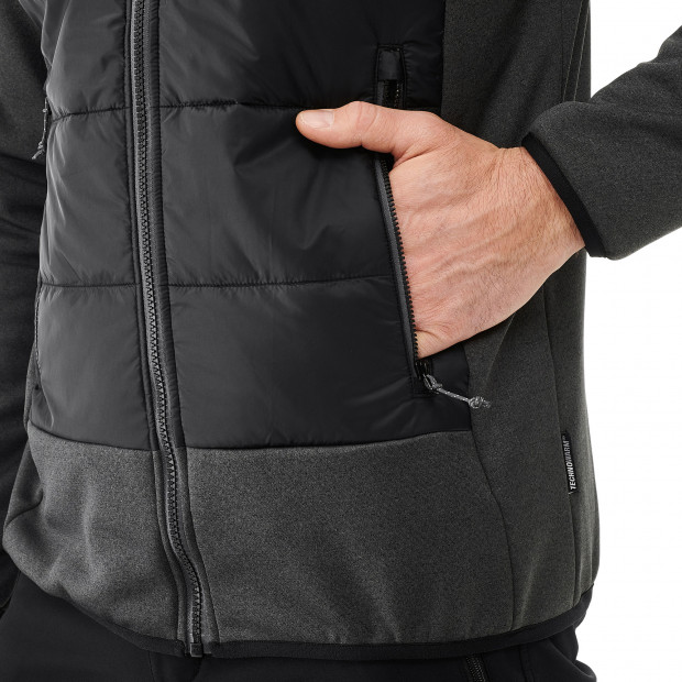 Hybrid fleecejacket - men ACCESS HYBRID F-ZIP M Black Lafuma 4