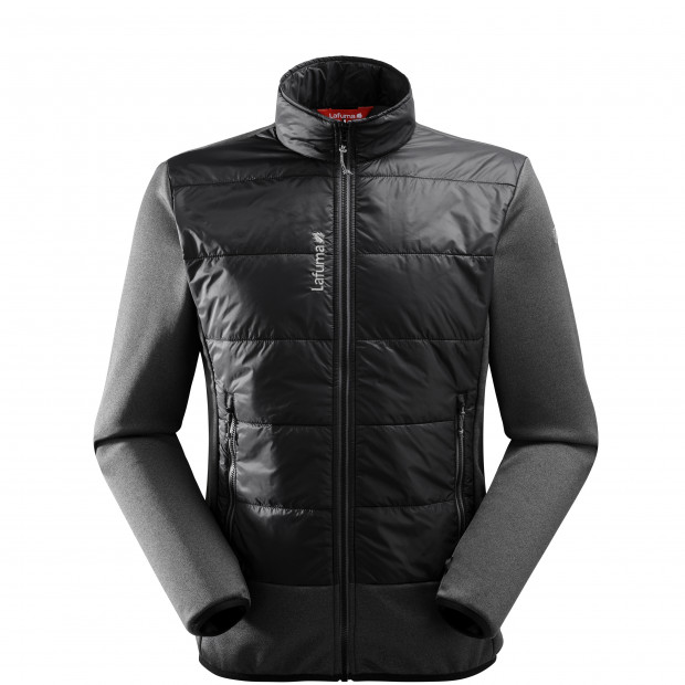 Hybrid fleecejacket - men ACCESS HYBRID F-ZIP M Black Lafuma