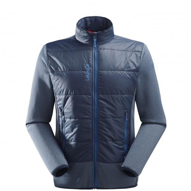 Wind resistant fleecejacket - Men ACCESS HYBRID F-ZIP Blue Lafuma