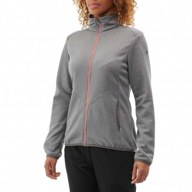 Very warm fleecejacket - Women ACCESS F-ZIP W Grey Lafuma 2