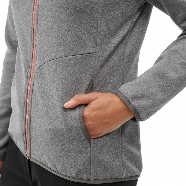 Very warm fleecejacket - Women ACCESS F-ZIP W Grey Lafuma 4
